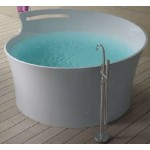 TORA Le Celebrity Series Polystone Free Standing Long Bath TR-BHT-FSB-05116-WW