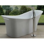TORA Le Celebrity Series Polystone Free Standing Long Bath TR-BHT-FSB-05118-WW
